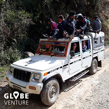 Nepal, Mardi Himal Trek, Sidhing, Jeep