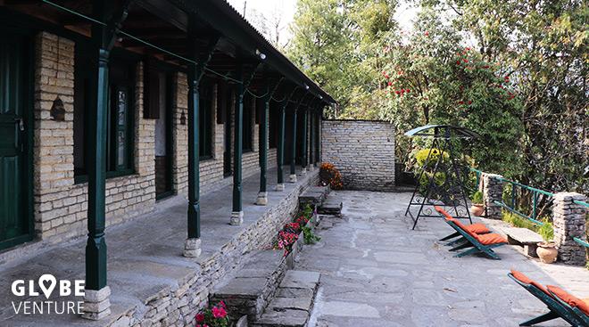 Lodge in Dhampus mit großer Terasse