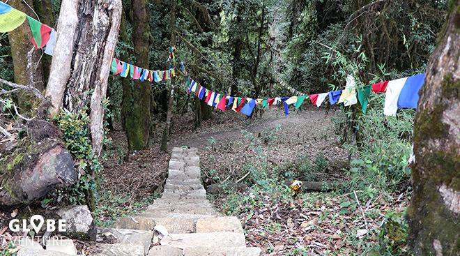 Nepal, Trekking Gebetsfahnen