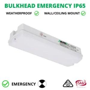 Emergency Bulkhead LED IP65 8W