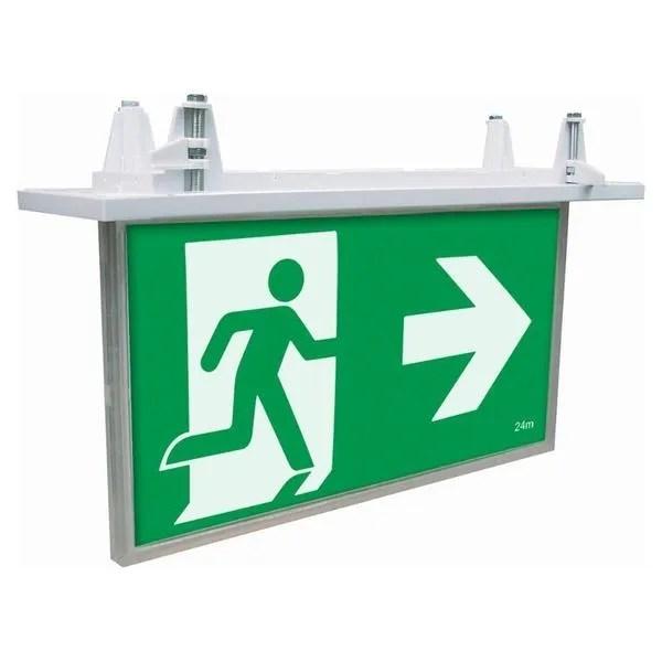 recessed exit light