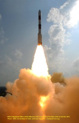 ISRO's Mangalyaan with PSLV C25 Photo:ISRO-India