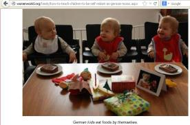 German kids: Mom says eat with hands!