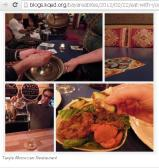 Eating with hand culture @ Africa restaurant ...Easy in cutting and breaking of food with hands
