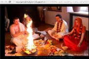 Russian Hindu Couple getting marry