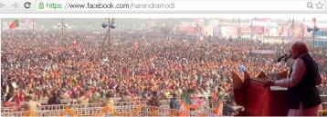 Typical Colourful Indian Election Rally...200,000 to 300.000 or above crowd for each rally is considered as normal...