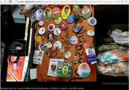 Badges and Key Rings of Differnt national and local parties for sale