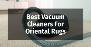 Best Vacuum Cleaners For Oriental Rugs