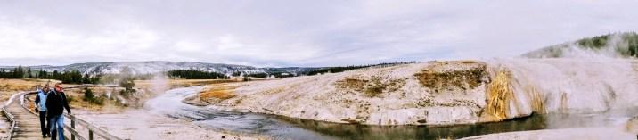 Het wandelpad rond Upper Geyser Basin