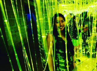 Tangled lights in Perth's nightlife