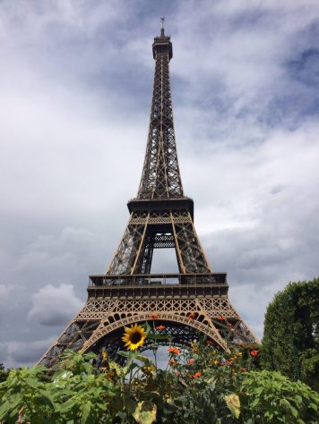 The Eiffel Tower in summer