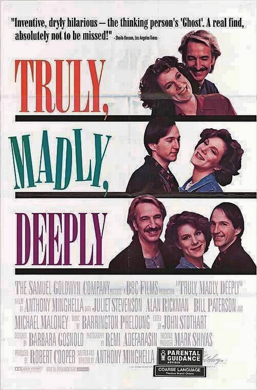 Affiche Truly, Madly, Deeply 1990