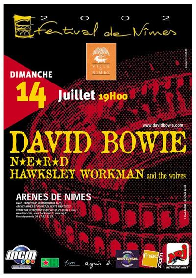 Affiche de Bowie à Nîmes