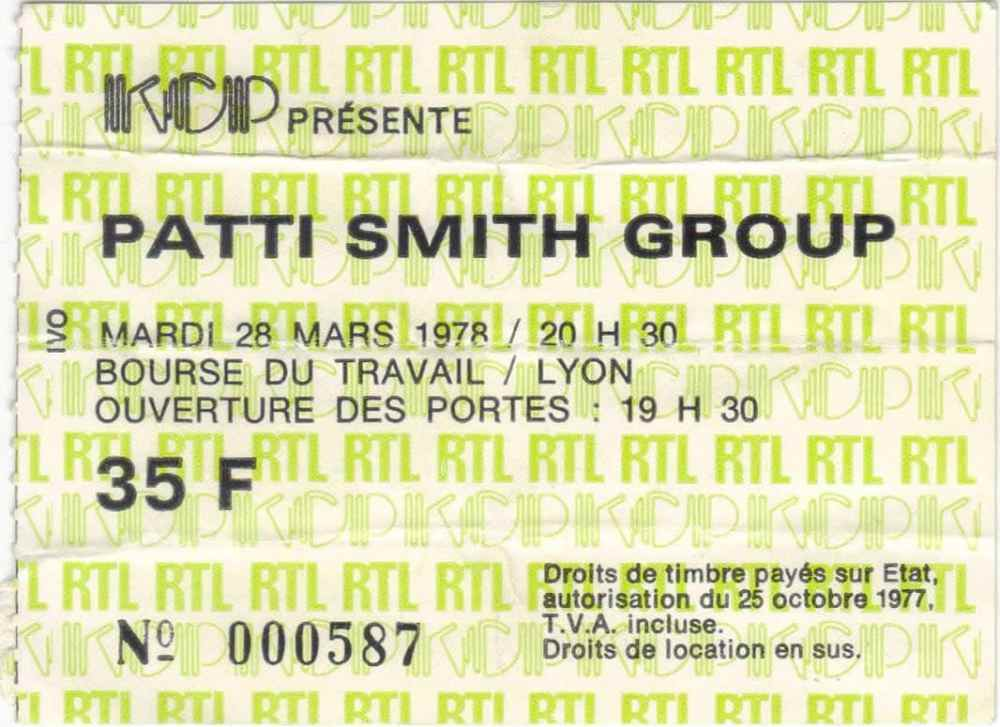 Patti Smith Lyon 78