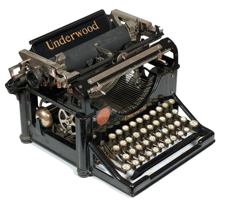 Une bonne vieille Underwood