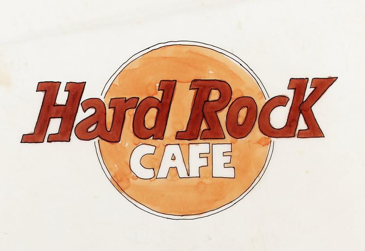 Logo Hard Rock Café par Alan Aldridge