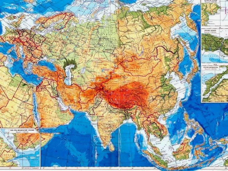 Velka Geograficka Mapa Asie Mapa Asie
