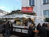 """German """"Glühwein"""" is hot wine they drink in winter"""