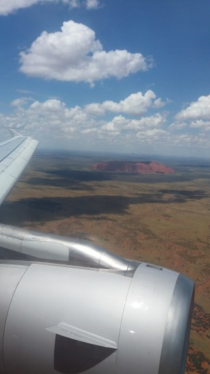 View on Uluru from the plane