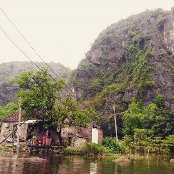 Mountains we could spot from our canoe in Tam Coc