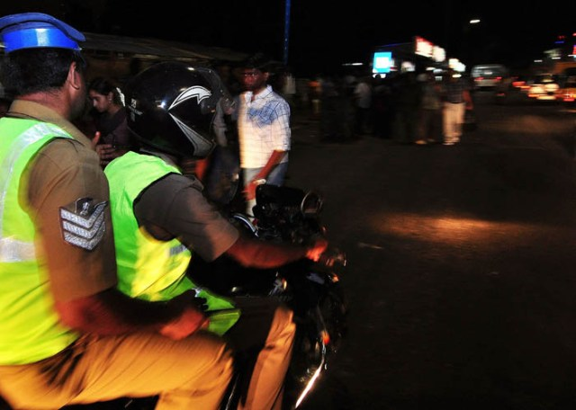The two wheeler patrol team has started their night rounds on Tuesday. On 30-08-2011 (Story Subburaj) Photo P.Sreedharan