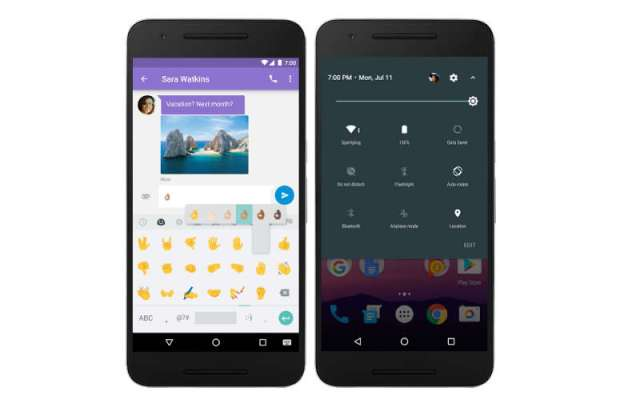 Android 7.0 Nougat is out: What the Settings tab and new emoji will look like.