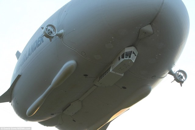 HAV chief executive officer Stephen McGlennan said the team had been waiting for low winds for the launch but added the airship could 'operate very happily' in 80 knots of wind