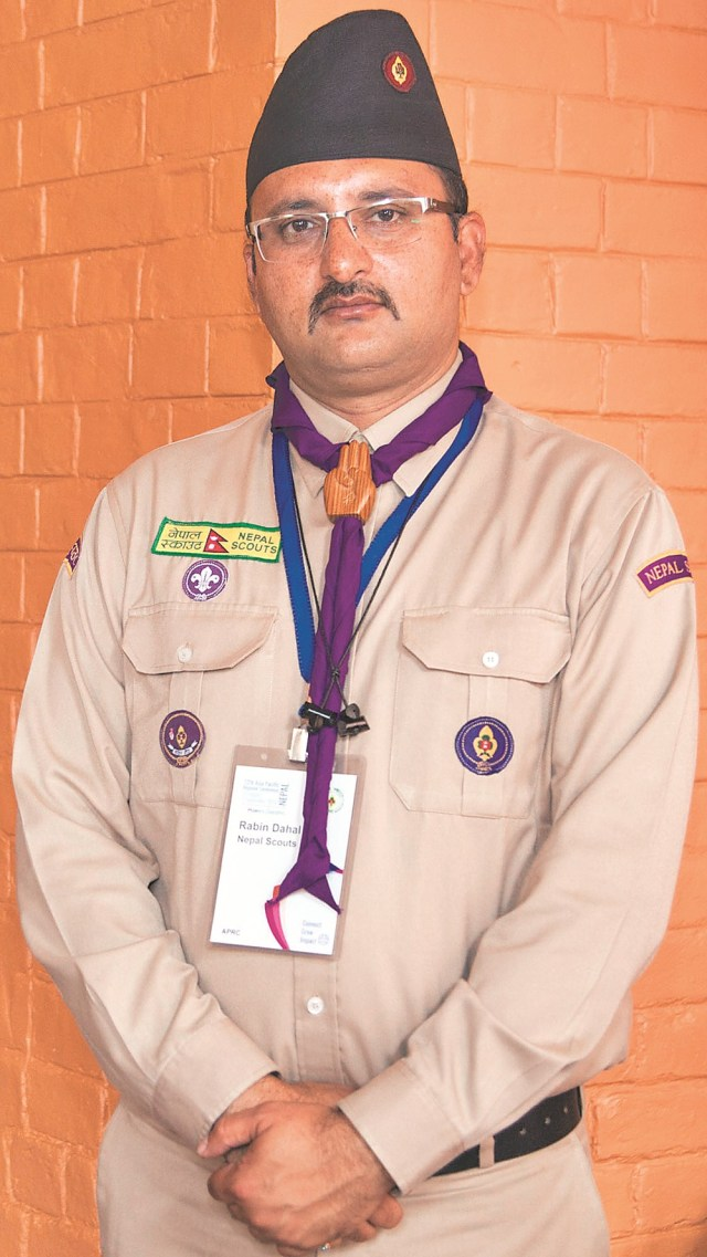 Rabin Dahal, Chief Commissioner, Nepal Scouts