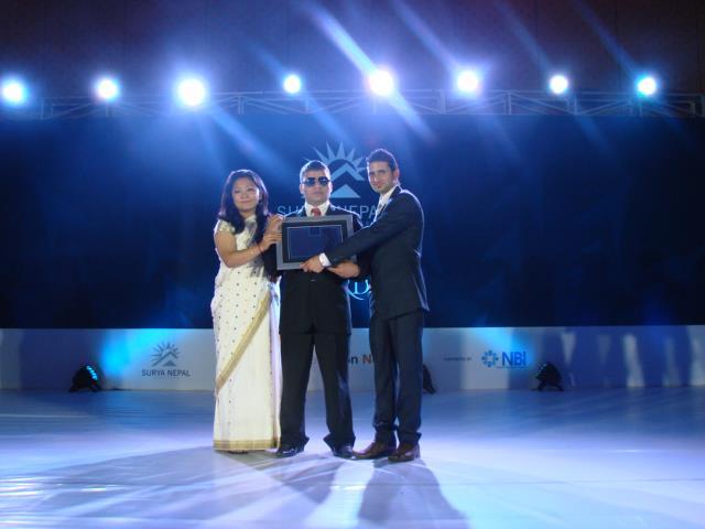 Being awarded with the Surya Nepal Asha Social Entrepreneurship Award