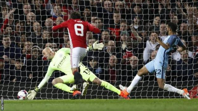JUan Mata scoring against Manchester City