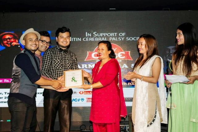 Marking the successful conducting of event with a token of appreciation for the band by founder of NCPS