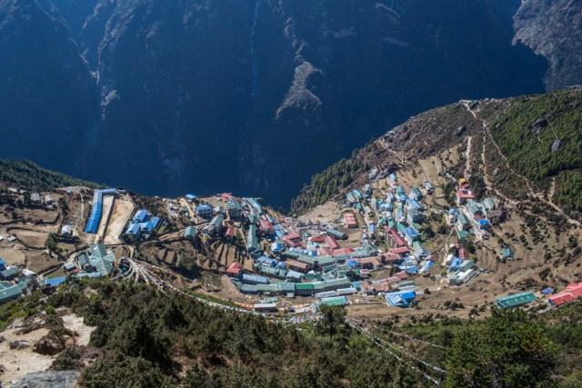 Namche Bazaar, the gateway to Everest, Solukhumbu district.