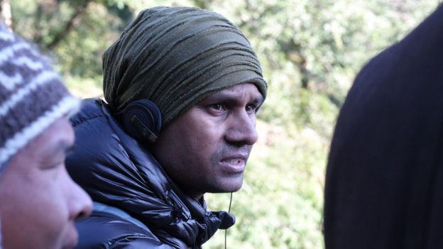 Director Deepak Rauniyar on set
