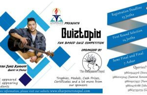 The Sharpeners Nepal to organize 'QUIZTOPIA', a fun based quiz in the valley