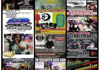 """11 """"LIVE"""" Shows via www.GLOCAWEAR.com"""