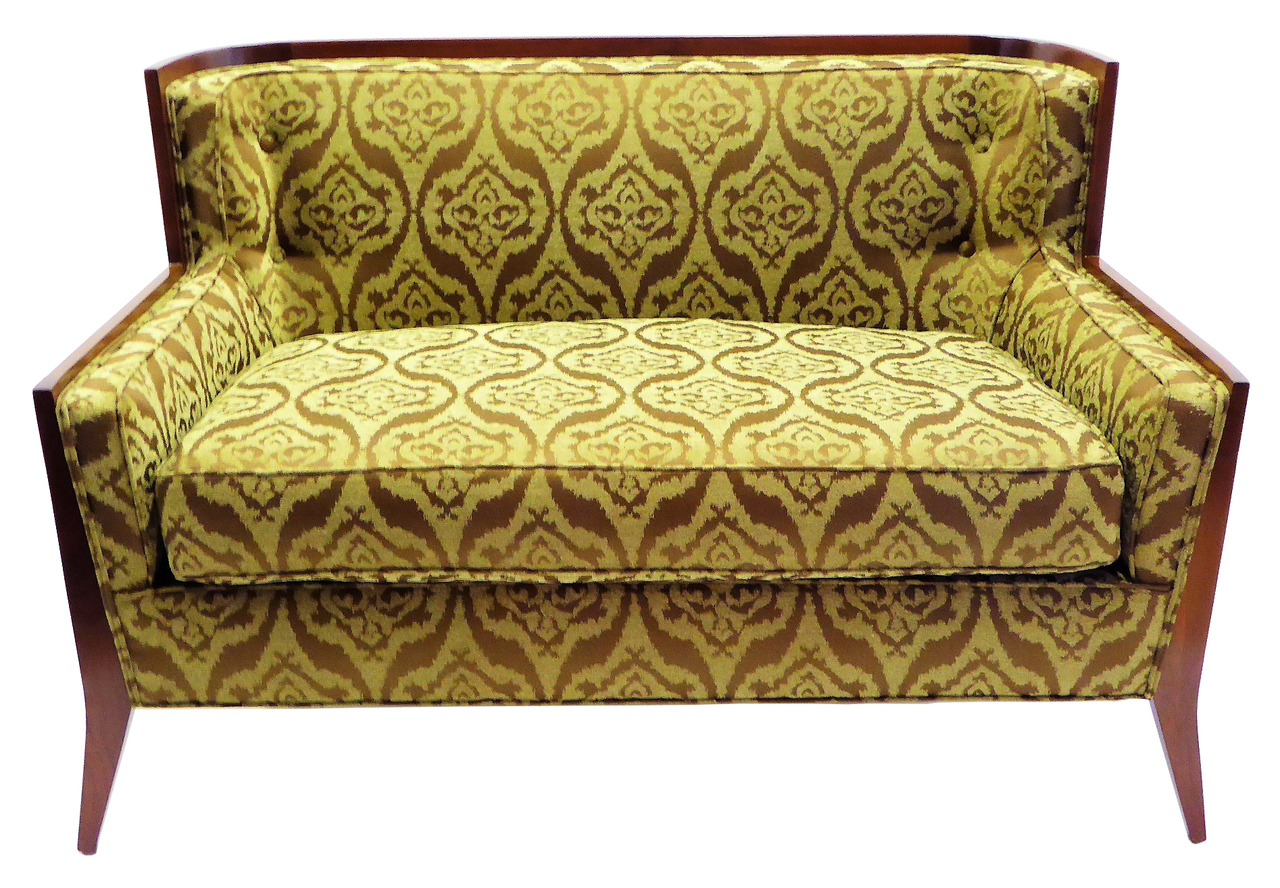 1950s Paul Mccobb Mid Century Modern Loveseat Sofa With