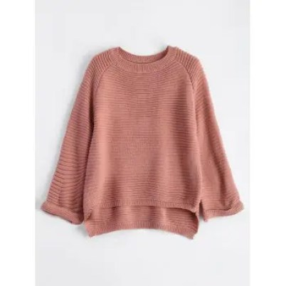 Flare Raglan Sleeve High Low Knit Sweater fall fashion