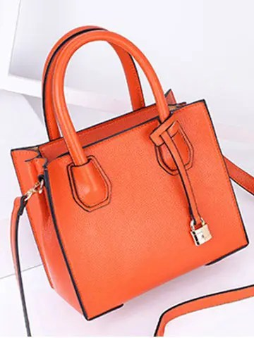 Chic Minimalist Convertible PU Leather Handbag