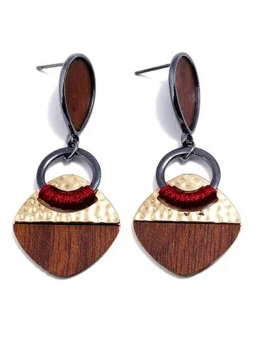 Water Drop Shape Geomertic Design Drop Earrings