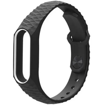 TPU Wristband for Xiaomi Mi Band 2 - WHITE/BLACK