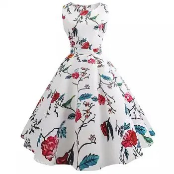2018 New Women S Dress Back Bow Tie Dress