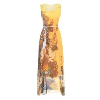 Fashion Beach Long Dress Slim Chiffon Bohemian Dress