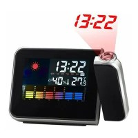8190 Novelty Multi-function Weather Station Alarm Clock with Time Projection