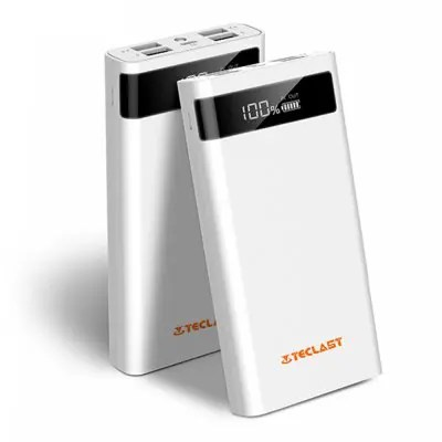 Teclast T200CE 20000mAh Charger 4 Output 8 Pin Micro USB - WHITE