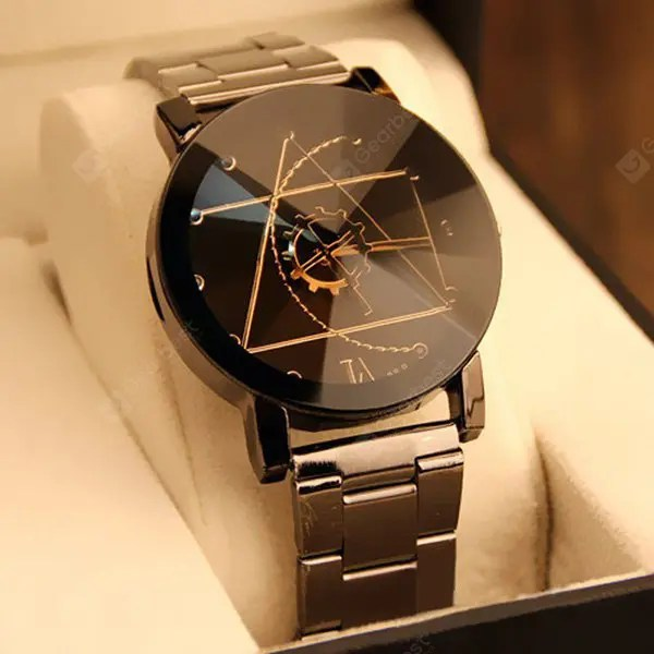 Gear Geometric Steel Band Quartz Watch 25Apr