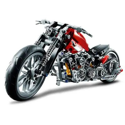 Gearbest BEILEXING Autocycle Style ABS Cartoon Building Brick - 378pcs