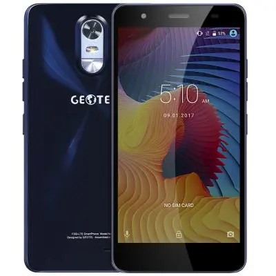 Geotel Note 4G Phablet 5.5 inch Android 6.0 top 10 telefoane ieftine pe gearbest, sub 100 usd!