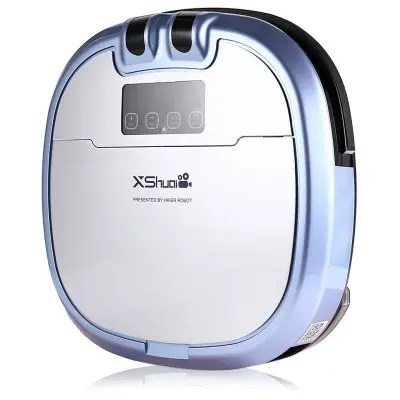 Gearbest XShuai HXS - C3 Robotic Vacuum Cleaner - EU PLUG BLUE Automatic Remote Control Cleaning Robot Self-recharging Mopping Function Built-in Camera
