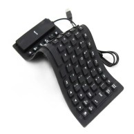 85-key Wired Silent USB Silicone Roll-up Keyboard