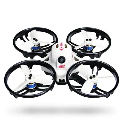 KINGKONG ET115 115mm Micro FPV Racing Drone - BNF WITH FRSKY XM RECEIVER WHITE